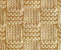 Фото узор платочная вязка №3991 спицами
