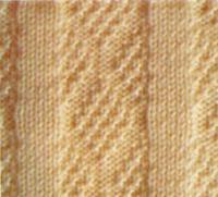 Фото узор платочная вязка №3995 спицами