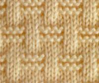 Схемы вязания спицами гладь