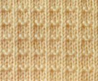 Фото узор платочная вязка №4009 спицами