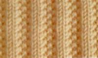 Фото узор лицевая гладь №4012 спицами