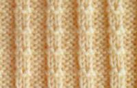Фото узор платочная вязка №4018 спицами