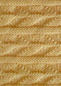 Фото узор платочная вязка №4020 спицами