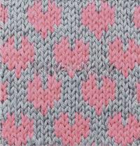 Фото узор сердце интарсия №4247 спицами