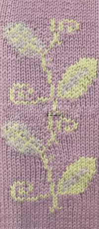 Фото цветной узор интарсия №4252 спицами