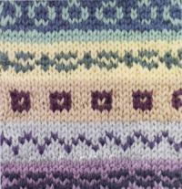 Фото цветной узор в технике интарсия №4256 спицами