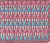 Фото тунисское вязание узор №4267 спицами