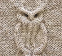 узор сова схемы спицами с описанием