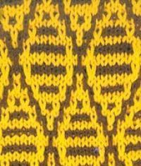 Фото узор интарсия цветной №5050 спицами