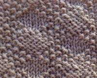 Фото узор жемчужный ткань №5097 спицами