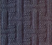 Фото рельефный плетеный узор №2 спицами
