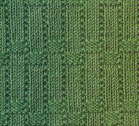 Фото рельефный плетеный узор №3 спицами