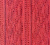 Фото рельефные узорные полосы №1 спицами