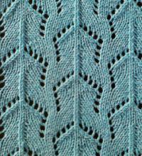 Фото узор ажурный №1645 спицами