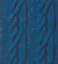 Фото плотный узор №3482 спицами
