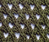 Ажурный узор ракушка схема