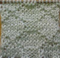 Фото узор платочная вязка №4032 спицами