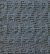 Фото узор рельефный №1654 спицами