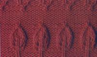 Фото узор листья роз №1317 спицами