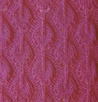 Фото узор рельефный с листьями №1335 спицами