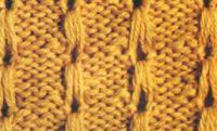 Фото узор рельефный с петлей №1345 спицами