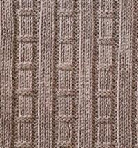 Фото узор рельефный №1659 спицами