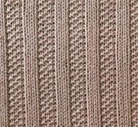 Фото узор рельефный №1662 спицами