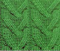 Фото рельефный узор №3751 спицами