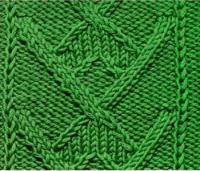 Фото рельефный узор №3753 спицами