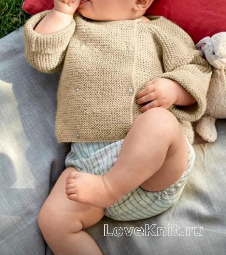 Как связать  двубортный жакет для ребенка