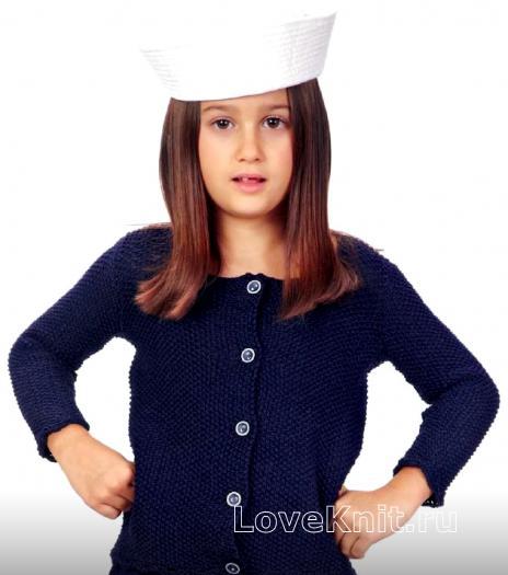 Как связать  кардиган для девочки пуговицах