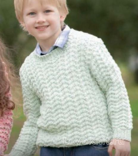 Джемпер для мальчика спицами схема фото 30