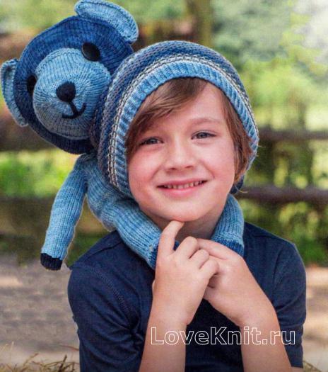 Как связать  детская шапочка-бини в полоску