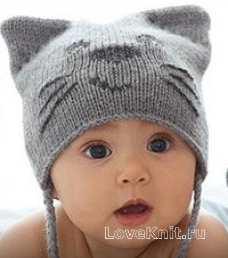 Вязание спицами шапочки для мальчиков до 1 года фото