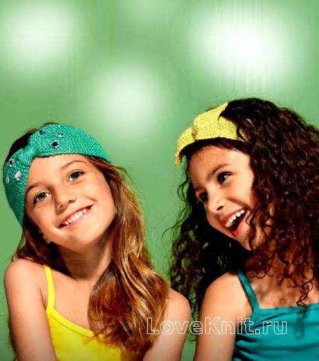 Как связать  повязка для девочки