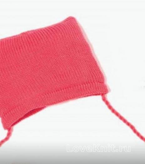 Как связать  шапочка для малыша с завязками