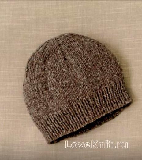 Как связать  шапочка платочной вязкой для мальчиков