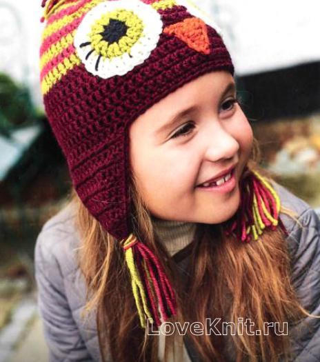 Как связать  шапочки для детей с наушниками
