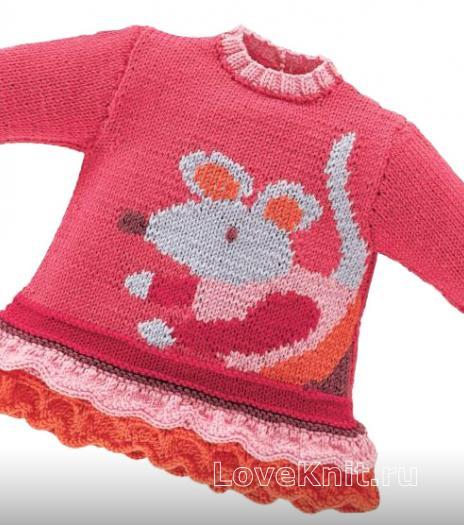 Как связать  платье для девочки c воланами