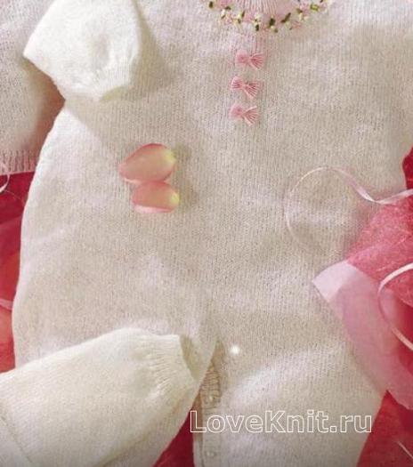 Как связать  комбинезон для новорожденного