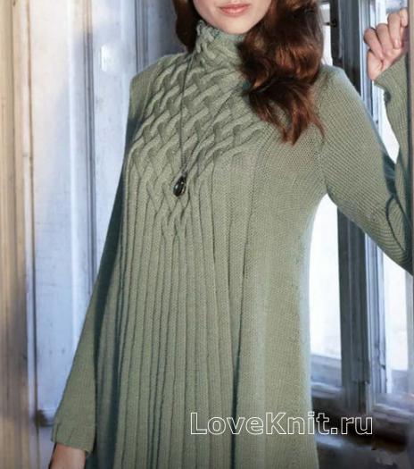 Все модели вязания туник 548