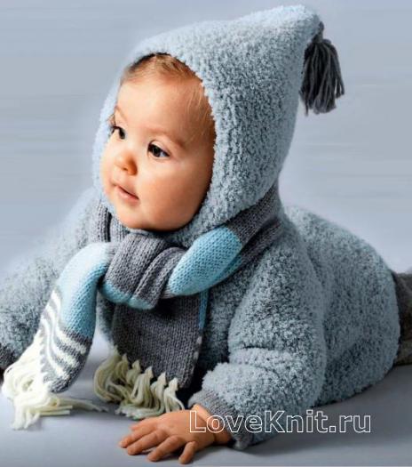 Как связать  цветной шарф для младенца с бахромой