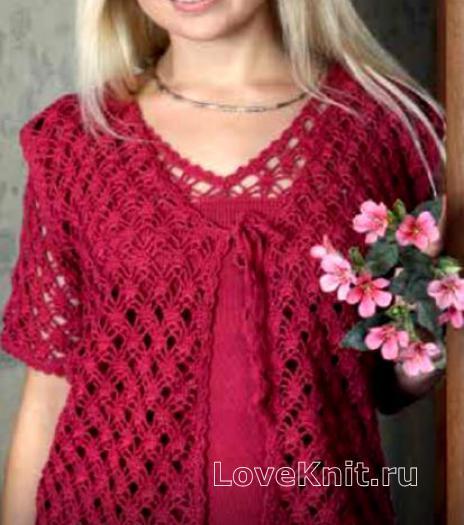 Как связать спицами ажурный жилет и пуловер с ажурными рукавам
