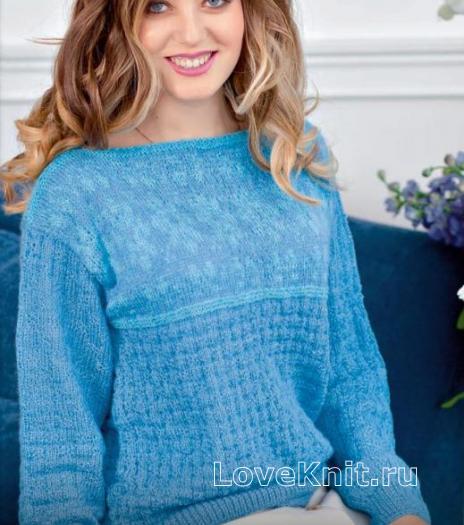 Как связать спицами классический пуловер с орнаментом
