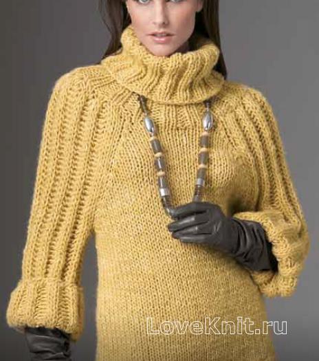 Вязание свитер рукав летучая мышь