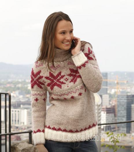 Вязание спицами норвежские узоры свитера