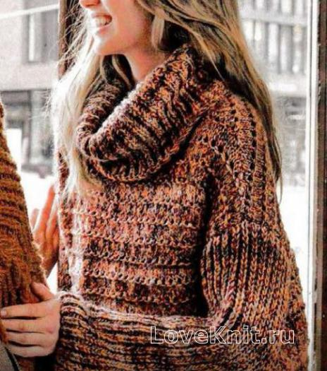 Большой свитер связать спицами