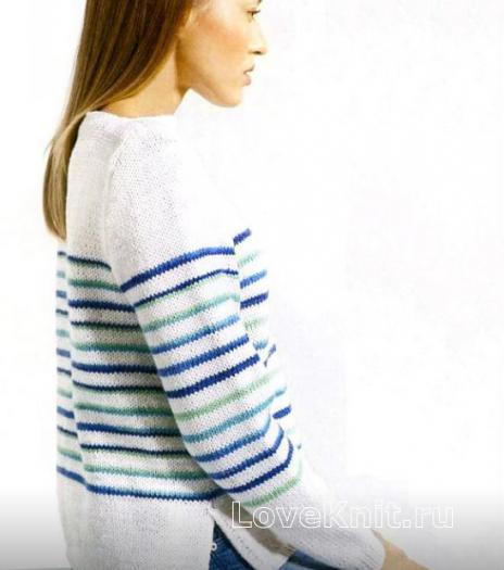 Вязаные свитера с разрезами по бокам