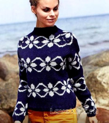 Объемный свитер крупной вязки схема фото 87