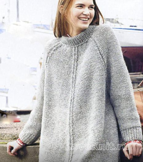 вязать свитер реглан спицами
